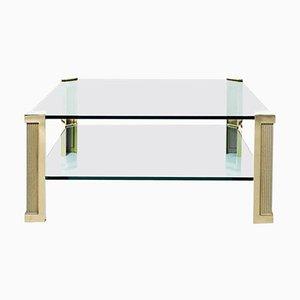 Tisch Pioneer T14d Messing / Glas von Peter Ghyczy