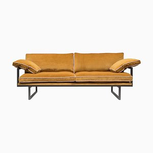 Urban Brad Gp01 Sofa in Ristretto & Yellow Fabric by Peter Ghyczy