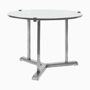 Side Table Pivot T82 Steel / Clear Glass by Peter Ghyczy