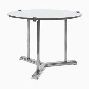 Table d'Appoint Pivot T82 en Acier / Verre Transparent par Peter Ghyczy