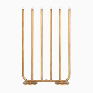 Large December Raw Brass Table Lamp by Sabina Grubbeson for Konsthantverk