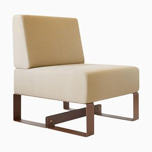 Cubit Brown Sculptural Easy Chair by Adolfo Abejon