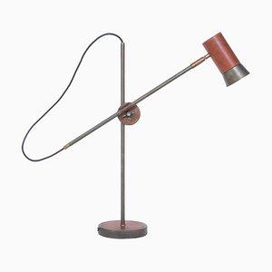 Kusk Eisenoxid Leder Tischlampe von Sabina Grubson für Konsthantverk