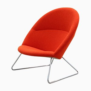 Red Dennie Chair by Nanna Ditzel & Jørgen Ditzel for One Collection
