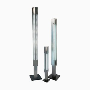 Aluminium Signal Column Stehlampe von Serge Mouille