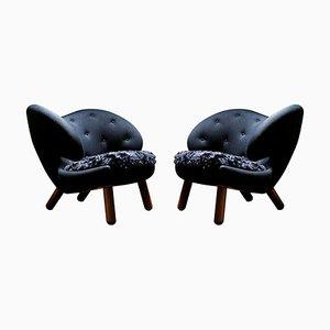 Pelican Stühle von Finn Juhl, 2er Set