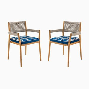 Dine Out Stühle aus Teak, Seil & Stoff von Rodolfo Dordoni für Cassina