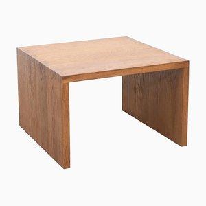 Massiver Niedriger Eichenholz Tisch von Le Corbusier für Dada Est.