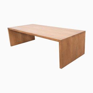Solid Oak Low Table by Le Corbusier for Dada Est.