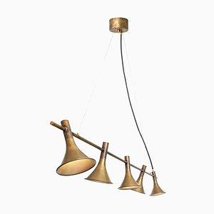 Megafon 5 Raw Brass Ceiling Lamp by Jesper Ståhl for Konsthantverk