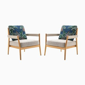 Dine Out Armchairs in Teak, Rope and Fabric by Rodolfo Dordoni for Cassina, Set of 2
