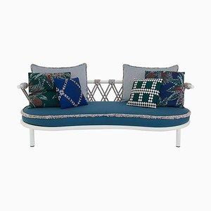 Trampolin Outdoor Sofa aus Stahl, Seil und Stoff von Patricia Urquiola für Cassina