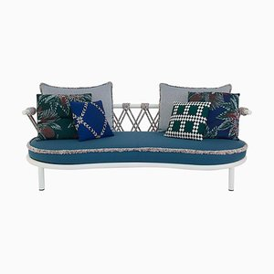 Trampoline Outdoor Sofa in Steel, Rope and Fabric by Patricia Urquiola for Cassina