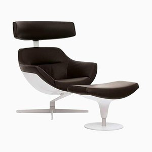 Auckland Lounge Chair and Footrest by Jean Marie Massaud for Cassina, Set of 2