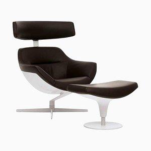 Auckland Sessel & Fußhocker von Jean Marie Massaud für Cassina, 2er Set