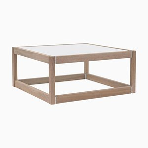 Coffee Table Embassy Kirk, T83 Oak Latte / Satin Glass by Peter Ghyczy
