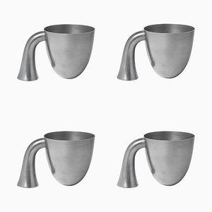 Vasi in latta di Aldo Bakker, set di 4