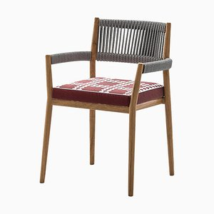 Dine Out Outside Chair in Teak, Rope and Fabric by Rodolfo Dordoni