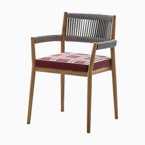 Dine Out Stuhl aus Teak, Seil und Stoff von Rodolfo Dordoni