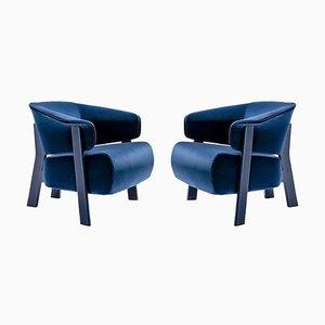 Back-Wing Sessel aus Holz, Schaumstoff und Stoff von Patricia Urquiola für Cassina, 2er Set