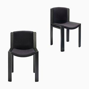 Stuhl aus 300 Holz und Kvadrat Stoff von Joe Colombo