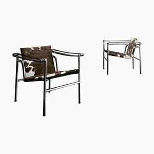 Chaises Lc1 par Le Corbusier, Pierre Jeanneret & Charlotte Perriand pour Cassina, Set de 2