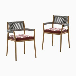 Dine Out Outside Chairs in Teak, Rope & Fabric by Rodolfo Dordoni for Cassina