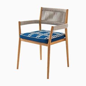 Dine Out Stuhl aus Teak, Seil & Stoff von Rodolfo Dordoni für Cassina