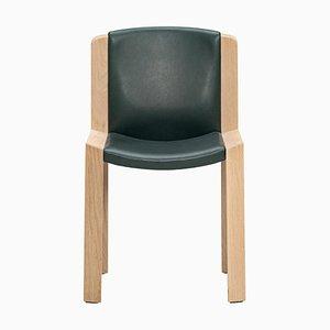 Chair 300 aus Holz und Sørensen Leder von Joe Colombo