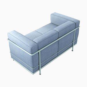 Canapé 2 Places Lc2 par Le Corbusier, Pierre Jeanneret & Charlotte Perriand pour Cassina
