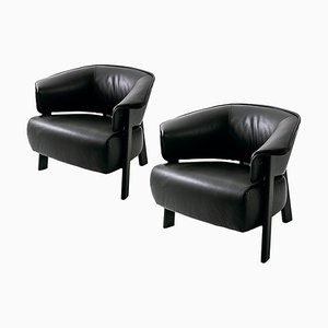 Back-Wing Sessel aus Holz, Schaumstoff & Leder von Patricia Urquiola für Cassina, 2er Set