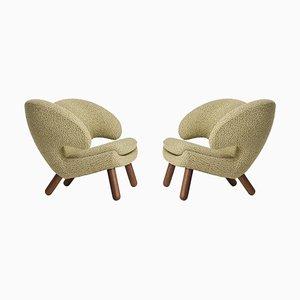 Pelican Stühle mit Raf Simons Bezug von Finn Juhl, 2er Set