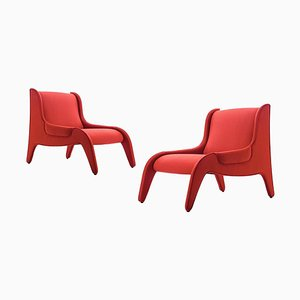 Antropus Lounge Chairs by Marco Zanuso for Cassina, Set of 2