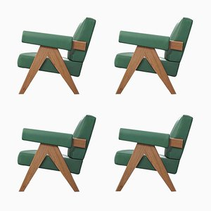 053 Capitol Complex Armchairs by Pierre Jeanneret for Cassina, Set of 4