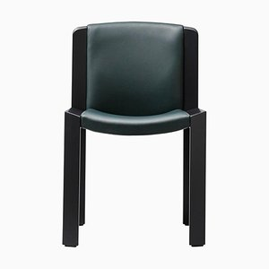Chair 300 in Wood and Sørensen Leather by Joe Colombo