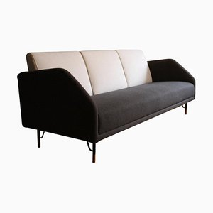 3-Seat 77 Sofa Couch in Wood and Fabric by Finn Juhl
