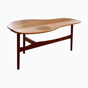 Mesa Butterfly de madera y latón de Finn Juhl