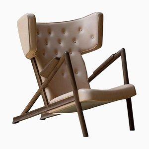 Grasshopper Sessel aus Holz und Leder von Finn Juhl