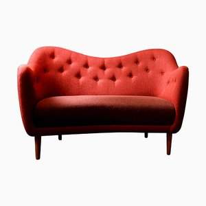 46 Sofa Couch in Wood and Fabric by Finn Juhl