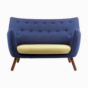 Poet Sofa in Fabric and Wood by Finn Juhl