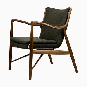 45 Chair in Wood and Fabric by Finn Juhl