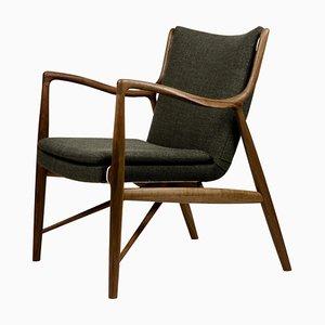Sedia 45 in legno e tessuto di Finn Juhl