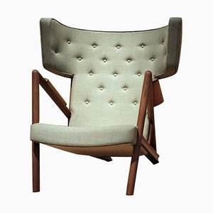 Grasshopper Armchair in Wood and Fabric by Finn Juhl