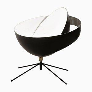 Schwarze Mid-Century Modern Saturn Stehlampe von Serge Mouille