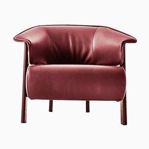 Back-Wing Sessel aus Holz, Schaumstoff & Leder von Patricia Urquiola für Cassina