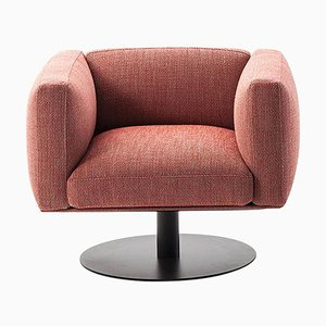 8 Cube Armchair with Swivel Base by Piero Lissoni for Cassina