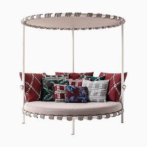 Sofá de exterior trampolín de acero, cuerda y tela de Patricia Urquiola para Cassina