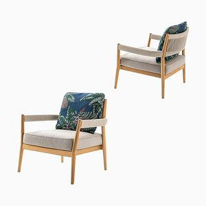 Dine Out Armchair in Teak, Rope & Water-Repellent Fabric by Rodolfo Dordoni for Cassina