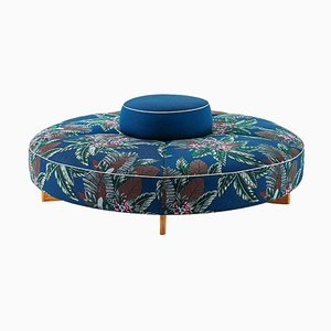 Sail Out Outside Ottoman in Teak and Fabric by Rodolfo Dordoni for Cassina