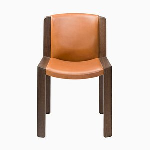 Chair in 300 Wood and Sørensen Leather Chair by Joe Colombo
